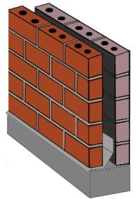 Masonry cavity or drainage wall