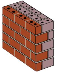 Mass-type masonry wall