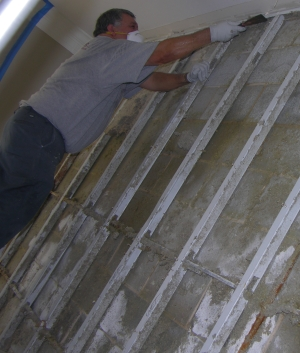 Removal of mold-infected materials