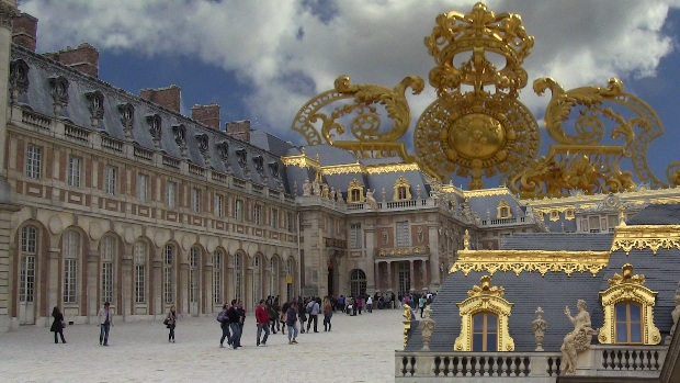 Photo montage of the Palace of Versailles. It's hard to escape the symbolism that assails the visitor.